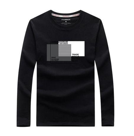 Cтильный мужской реглан хлопок, футболка с длинным рукавом - T-Shirt