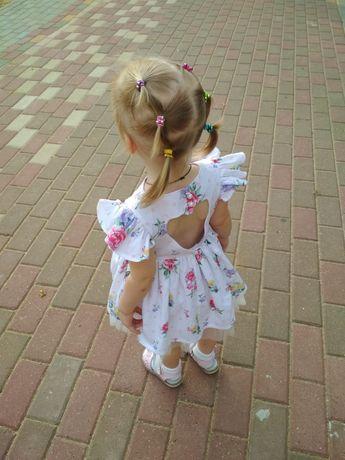 Платье нарядное летнее с повязкой