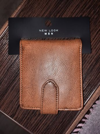 New Look мужской кошелек с бирками в упаковке размеры 12*10 кожа PU