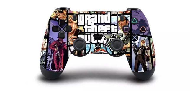 Силіконовий чехол популярної гри GTA 5 на Джойстик PlayStation 4