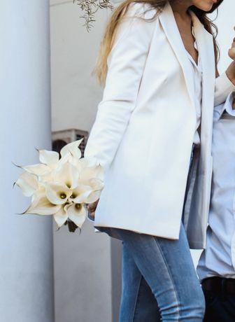 Белый жакет пиджак totalwhite