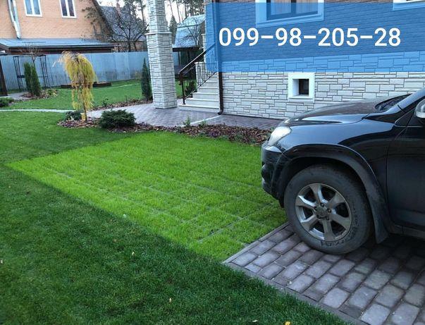 Газон для ЭКОпарковки смесь низкорослых газонных трав