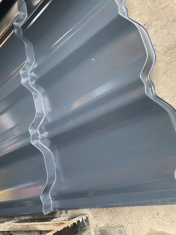 Blachodachówka modułowa German simetric połysk 7016 antracyt 28m2