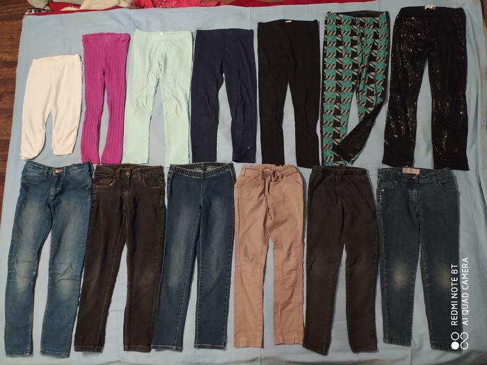 Spodnie jeansy leginsy rurki H&M Next Benetton 7 8 lat 122 128 piżamy Tarnów - image 1