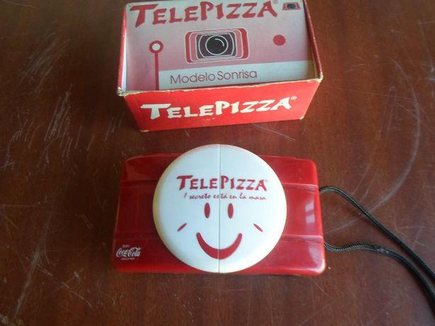 maquina fotografica da coca cola e telepizza como nova