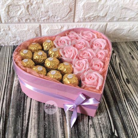 Подарок из роз, маме, девушке, жене, набор дівчині, любимой, учителю