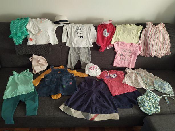 Lote de Roupas de menina 6-9 meses Verão