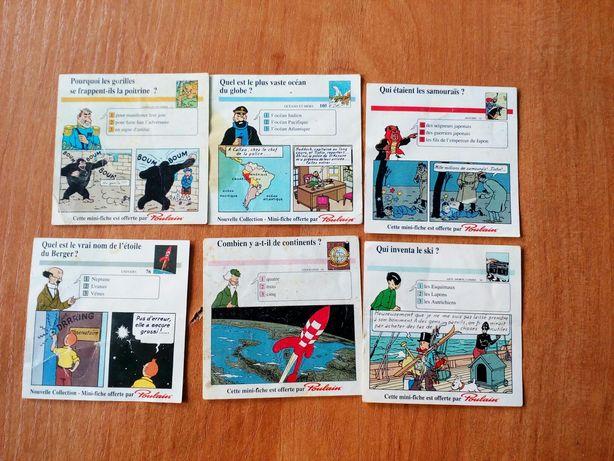 Карточки с шоколада Poulain редкая коллекция
