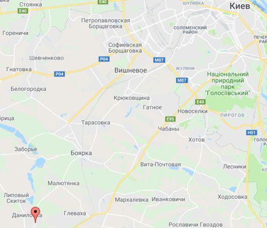 Кожухівка, 25 км від Києва, ділянка 12,33 соток в дачному товаристві