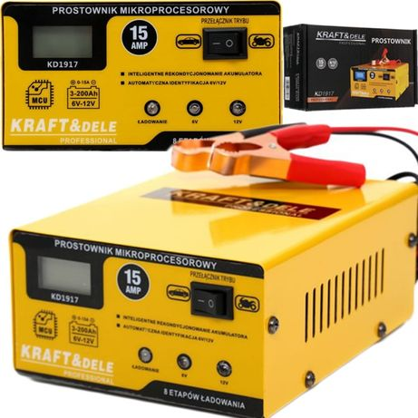 KRAFT&DELE prostownik mikroprocesorowy akumulatorowy 6V / 12V