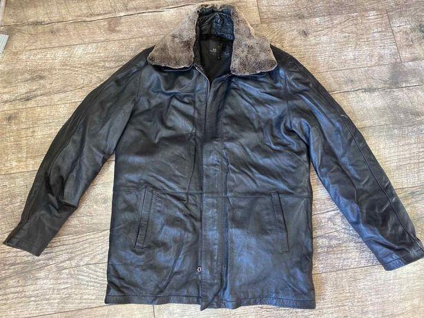 Кожаная мужская курточка как новая
