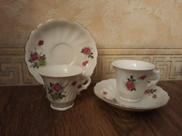Коллекционная кофейная пара - чашка и блюдце. Старый Китай.