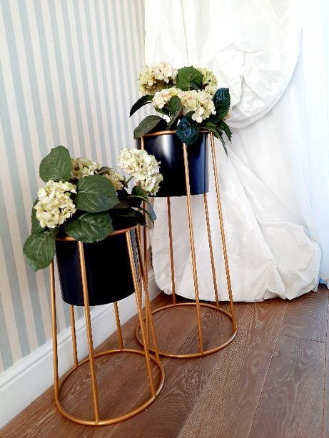 Osłonka dekoracyjna donica złota glamour-mała