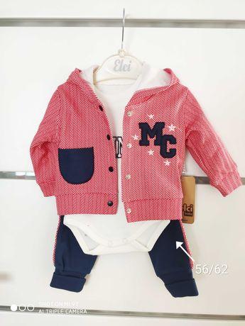 Ubranka niemowlęce /rozmiary 56- 86/ chłopiec/ komplety/ nowe