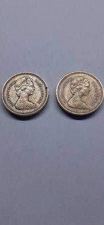 1 funt 1983 r. Elżbieta ll Wielka Brytania ONE POUND