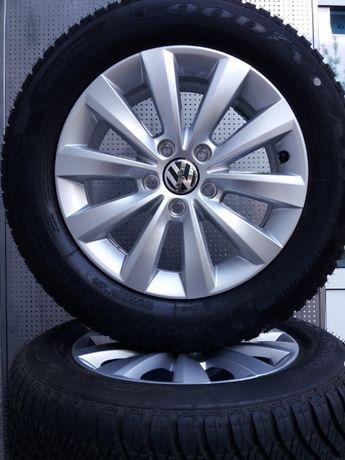 Nowe koła wielosezonowe VW 6,5x16 5x112 215/60R16 Goodyear alu