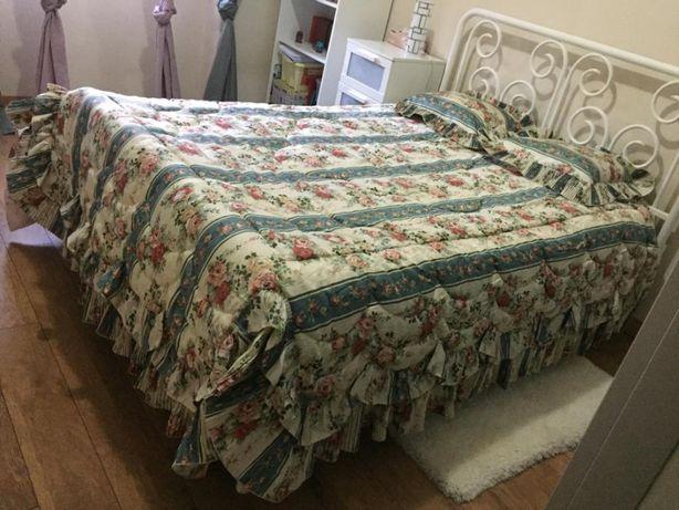 Colcha cama de casal acolchoada