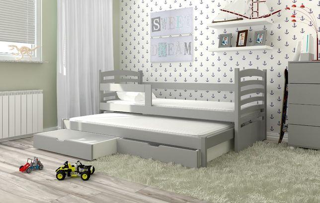 Nowe podwójne łóżko Olek z materacami gratis! Kolory do wyboru!