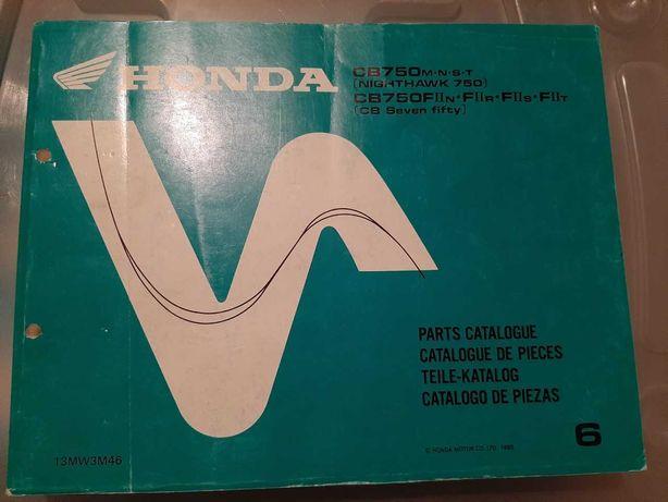 Honda CB750F 92-96 livro de pecas