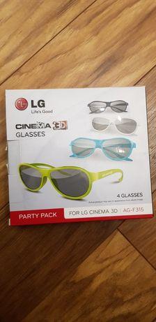 Okulary LG 3D, 4 sztuki
