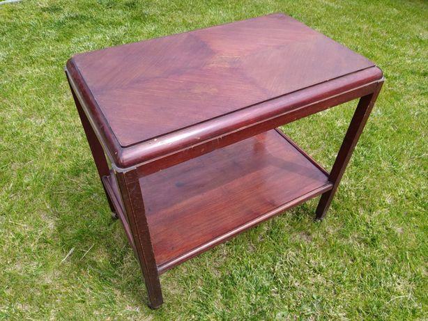 Barek Art Deco stolik kawowy stary antyk 1940 vintage drewniany