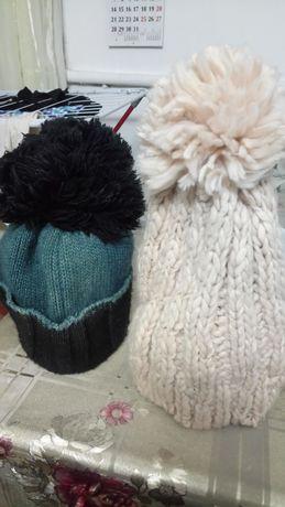 Зимние шапочки вязанные