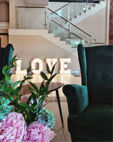 LOVE napis led wesele