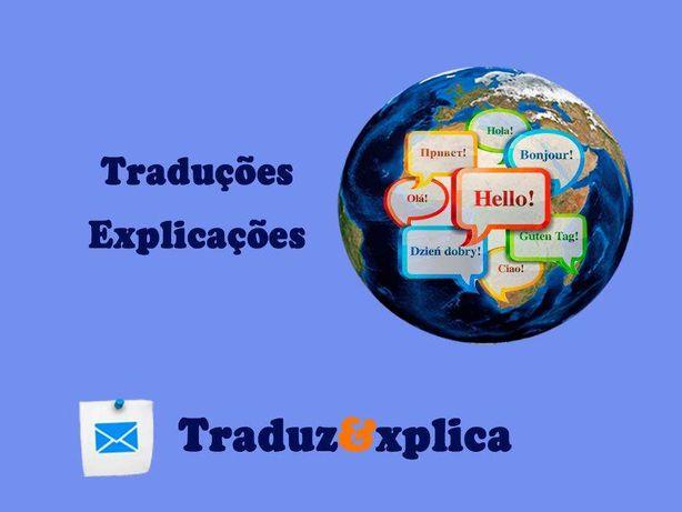 Explicações/Traduções - Inglês; Espanhol; Francês