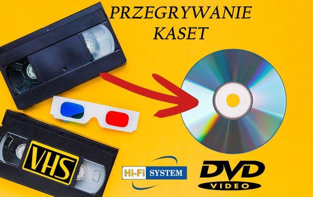 Przegrywanie kaset VHS na DVD lub MP4 Full HD
