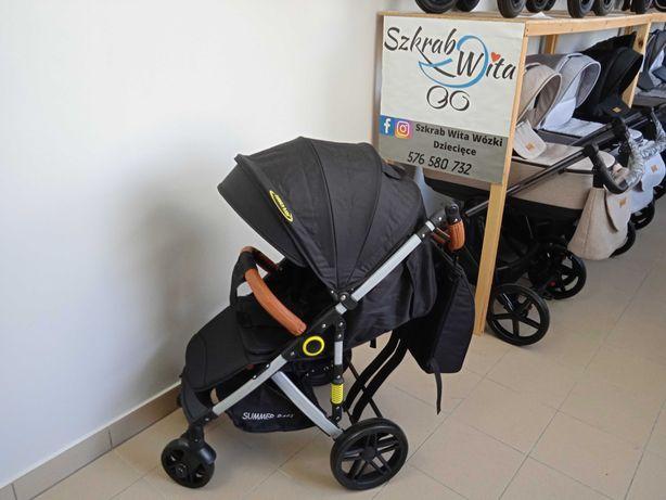 Wózek spacerówka summer baby sempre duże koła wysyłka FB szkrabwita.pl