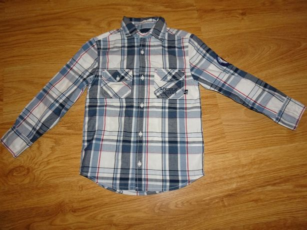 chłopięca koszula w kratkę rozmiar 128 smyk
