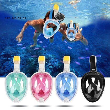 Инновационная маска для снорклинга, плавания с креплением для камеры