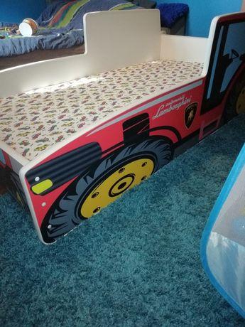 Łóżko dziecięce dla chłopca z materacem , stan bardzo dobry