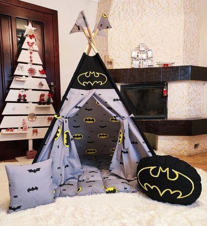 Вигвам палатка детская Бетмен шалаш игровой домик