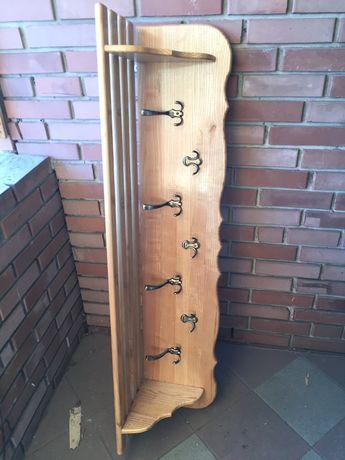 Duży Wieszak drewniany lakierowany wewnętrzny