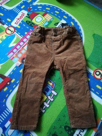 Spodnie sztruksy h&m