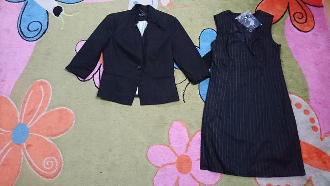 sukienka czarna elegancka r 36 BON PRIX+ żakiet Reserved r 38