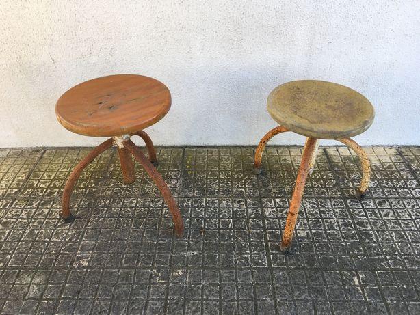 Cadeiras industriais vintage