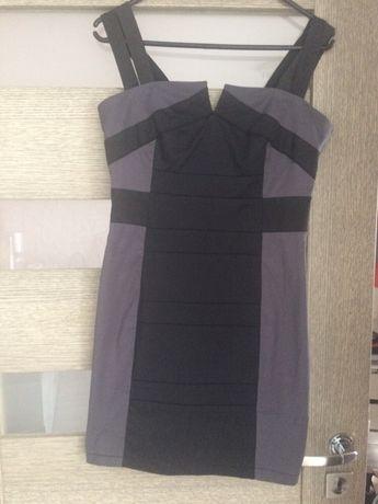 Sukienka czarno szara