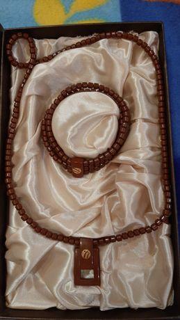 Nuga Best Турманиевое ожерелье с кулоном и браслет