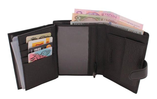 кошелек кожаный мужской с блоком под автомобильные документы ST и F