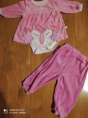 Zestw ubranek dla dziecka, dziewczynki roz. 68