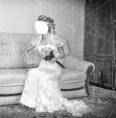 Sukienka/sukienka Ślubna z hiszpańskiej koronki 34 Okazja!