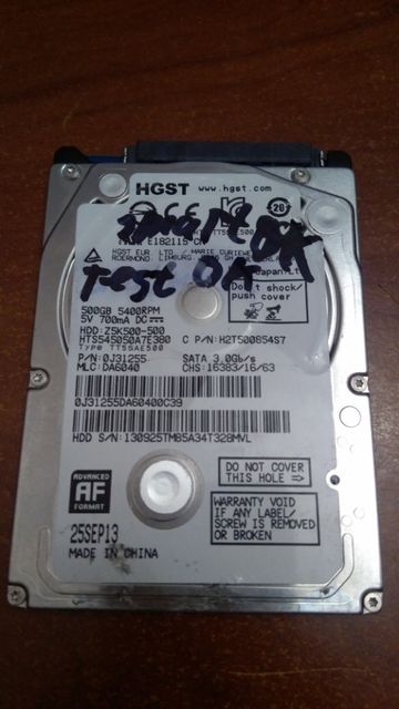 Hitachi (HGST)Z5K500 500GB (беди донор)