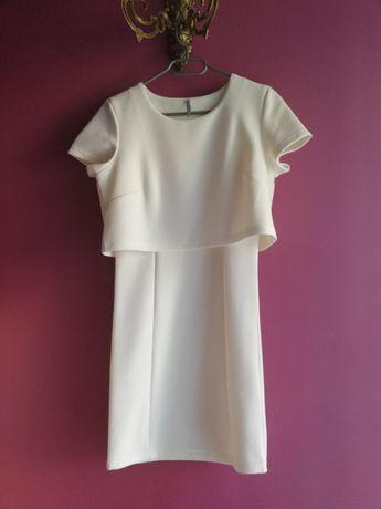 Nowa! Biała sukienka - Troll