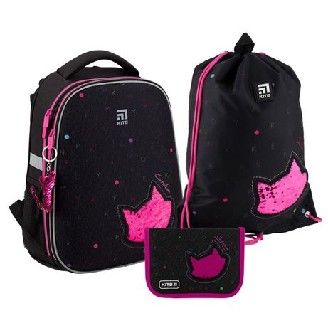 Набор рюкзак + пенал + сумка для обуви Kite 531 Catsline K20-531M-5