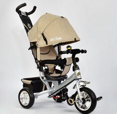 Трёхколёсный велосипед деткий Turbo Trike с родительской ручкой, візок