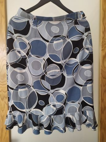 Spódnica niebieska z falbanką 40