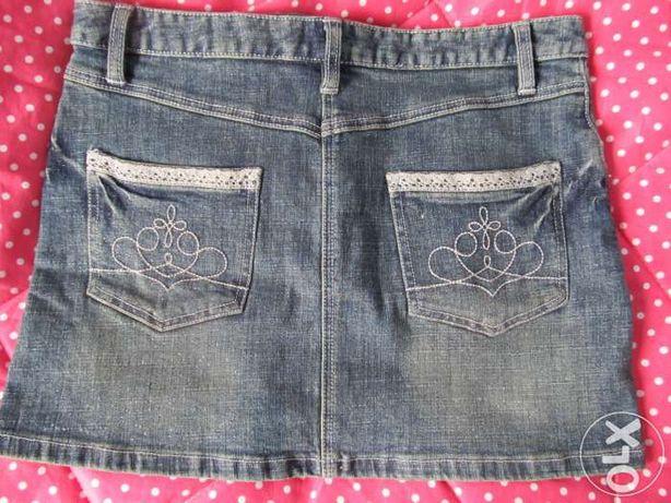 Orsay Nowa mini spódniczka spódnica jeansowa dzinsowa 34/XS + gratis!