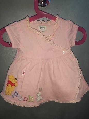 Disney śliczna sukienka 56 Puchatek nowa